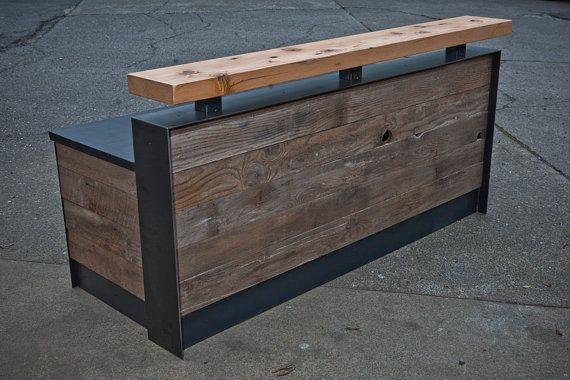 Beautiful Bar Height Reception Desk