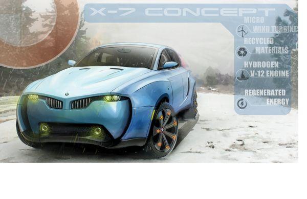 BMW X-7 Concept by David Torres, via Behance