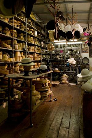 Antica Manifattura Cappelli ~ Old Millinary shop where they make hats by hand