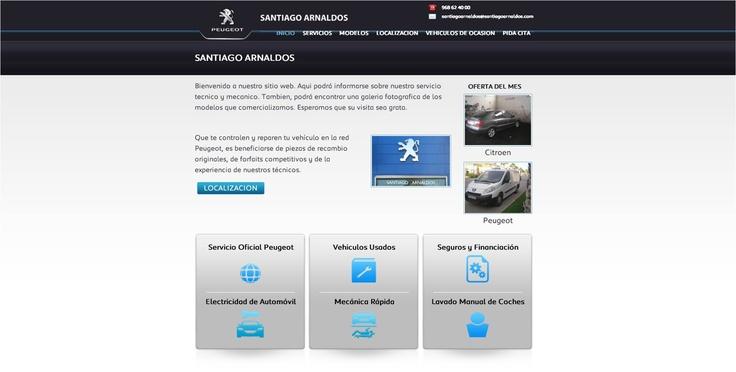 Concesionario Santiago Arnaldos #website #design #guellcom