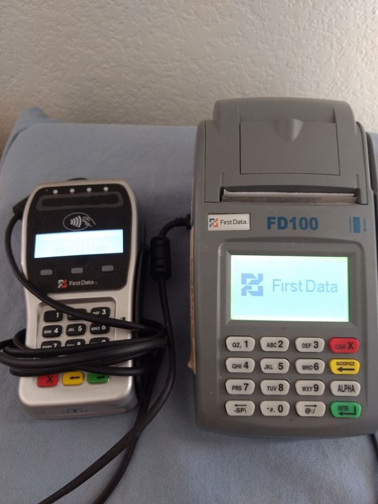Fd100 first data credit card terminal with fd35 pin pad
