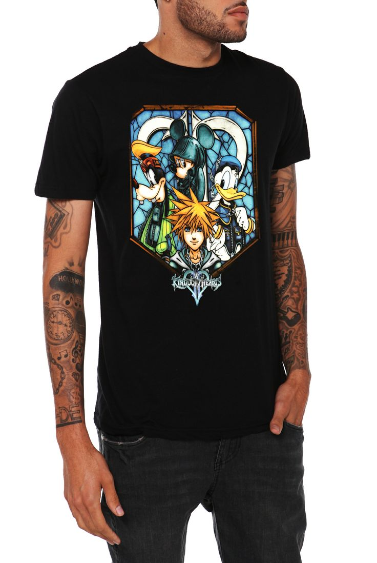 Disney Kingdom Hearts Stained Glass T-Shirt 2XL | Hot Topic