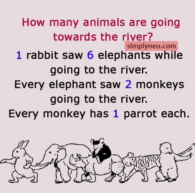 1 Rabbit Saw 6 Elephants Riddle Simplyneo Quotes In 2020 Fun Quotes Funny Funny Quotes Elephant