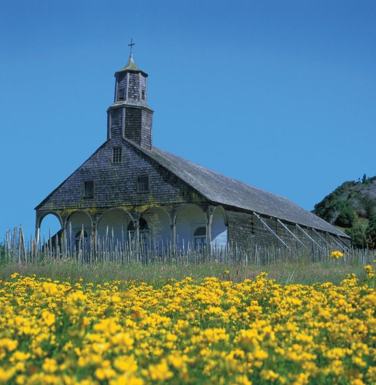 Typical Church in Chiloe Island