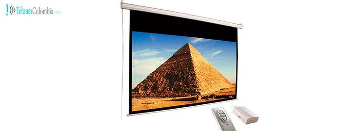 Pantalla eléctrica de video beam de 274 x 210 cms