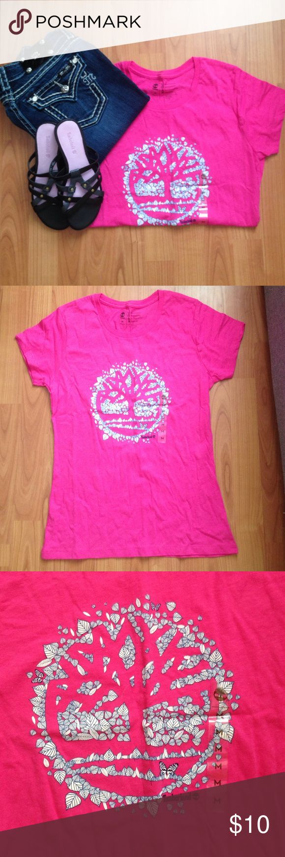Timberland T-Shirt Women's pink timberland logo T.. Never worn Timberland Tops Tees - Short Sleeve