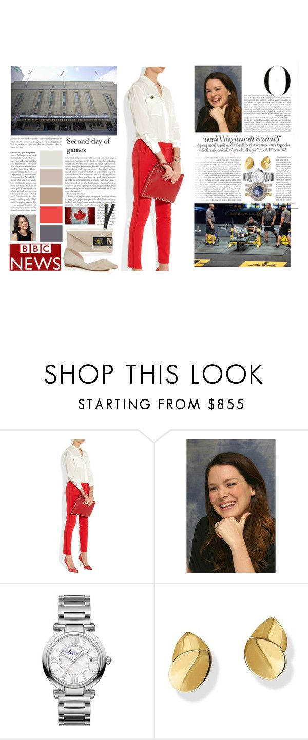 """Untitled #3007"" by duchessq ❤ liked on Polyvore featuring Vanity Fair, Nicholas Kirkwood, Chopard and Marc Fisher LTD"