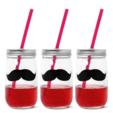 MOUSTACHE DRINKING JAR : NEW FOR MAY : Tiger UK