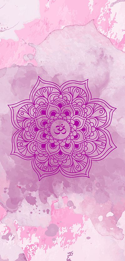 ૐ OM ૐ Purple mandala