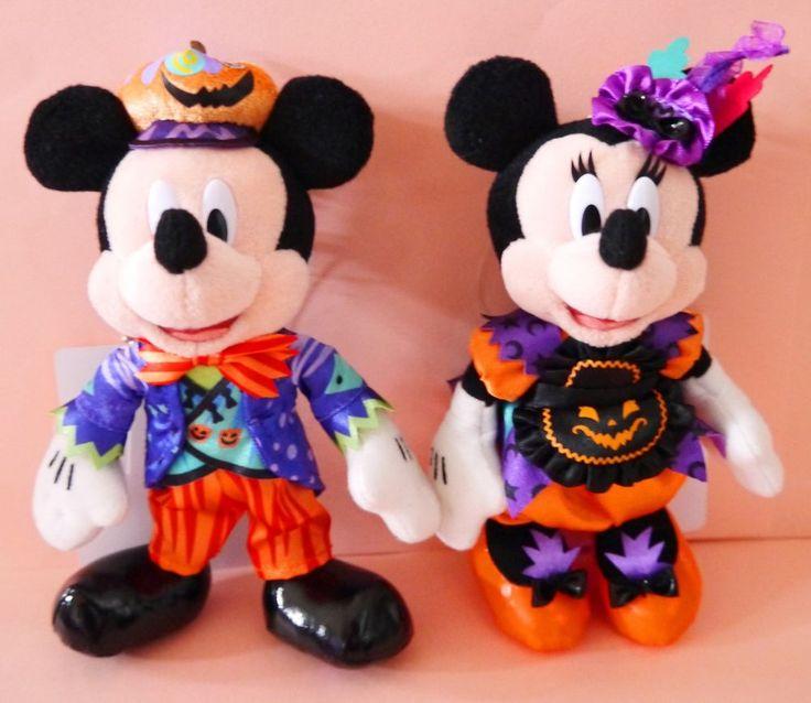 2015 tokyo disneyland disney halloween mickey minnie plush badge japan in stock - Mickey Minnie Halloween
