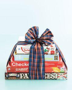 martha stewart stacked game hostess gift - Google Search