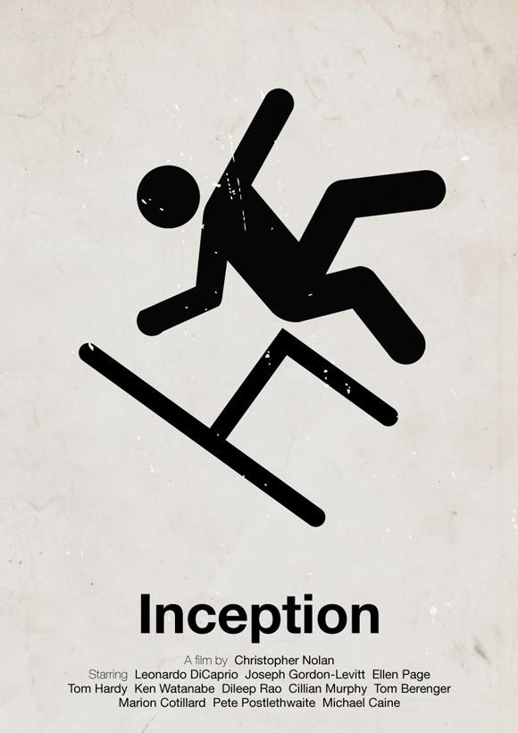 Inception movie poster in a pictogram style