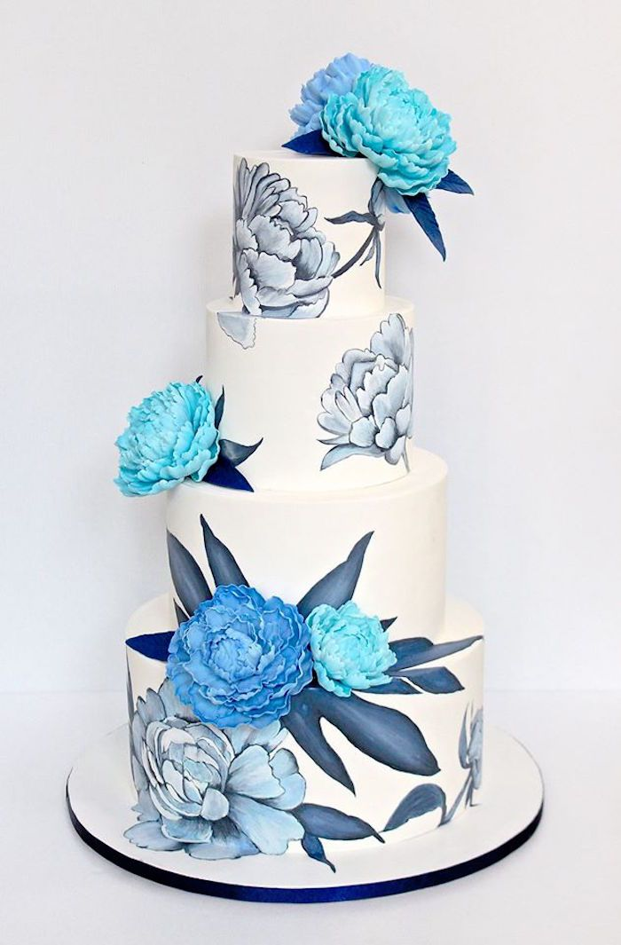 Cake from a Rustic Asian Wedding Dessert Table