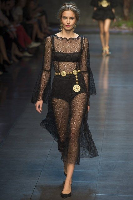 D&G SS14, sheer dress. Used as inspiration for mermaid themes