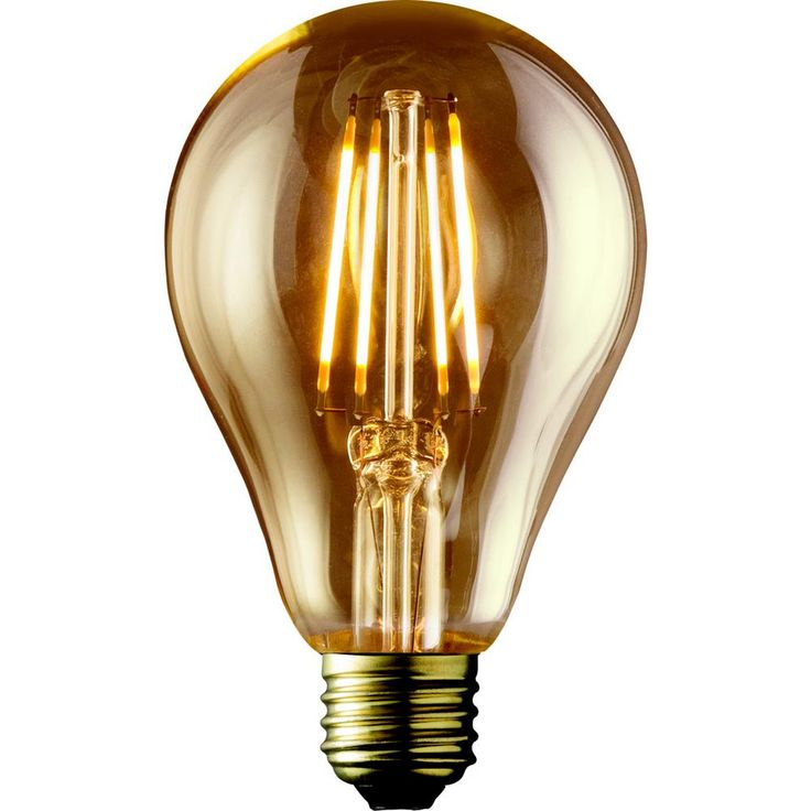Archipelago 40W Equivalent Warm White A19 Amber Lens Vintage Victorian Dimmable LED Light Bulb (2-Pack)