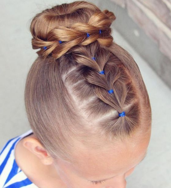 Gymnastic competition hair