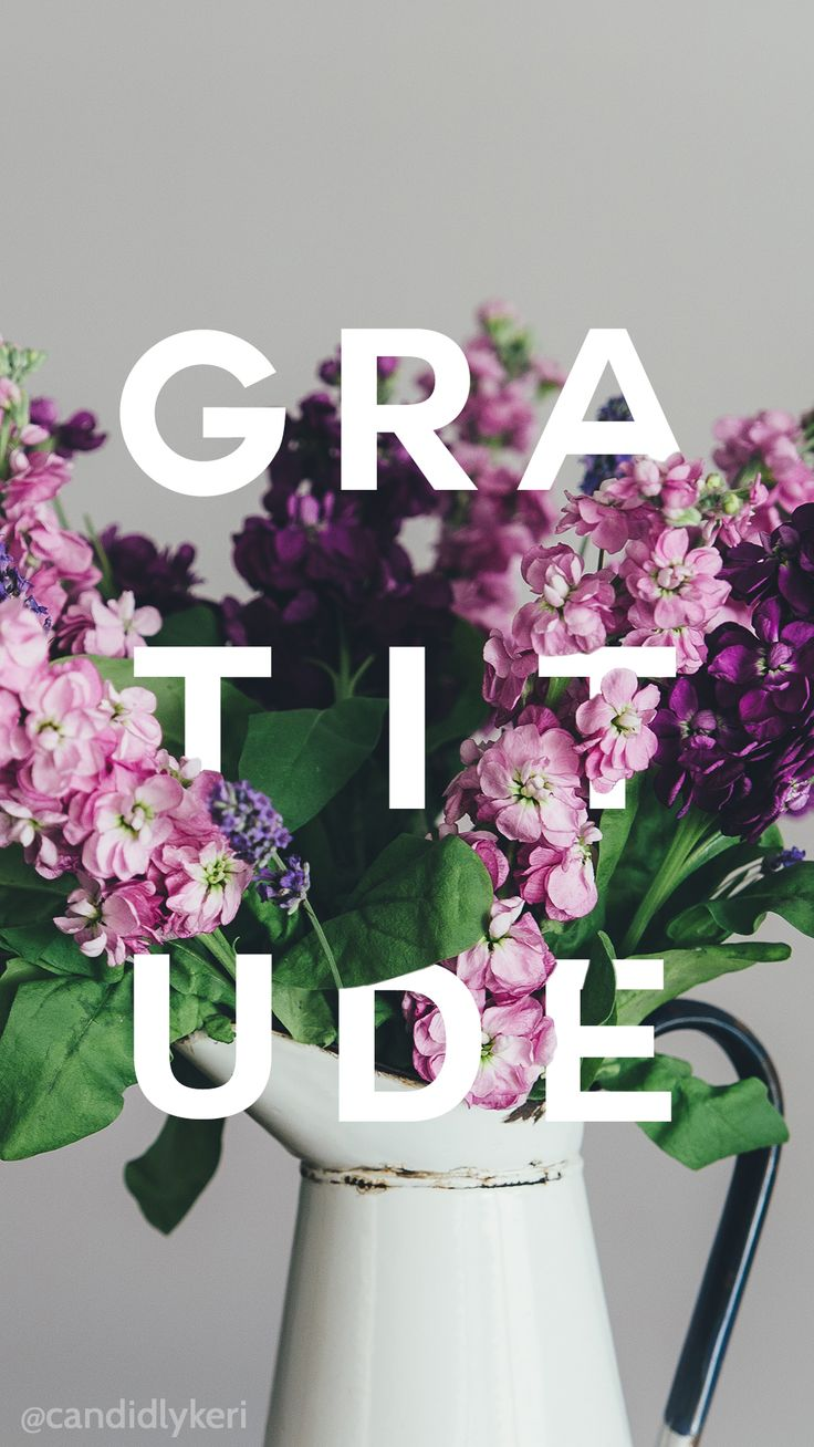 Gratitude flower pretty wallpaper you can download for free on the blog! For any device; mobile, desktop, iphone, android!