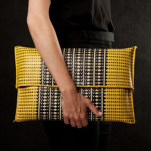 Madwa Milan Clutch - Raffia clutch from a fair trade project in Madagascar.
