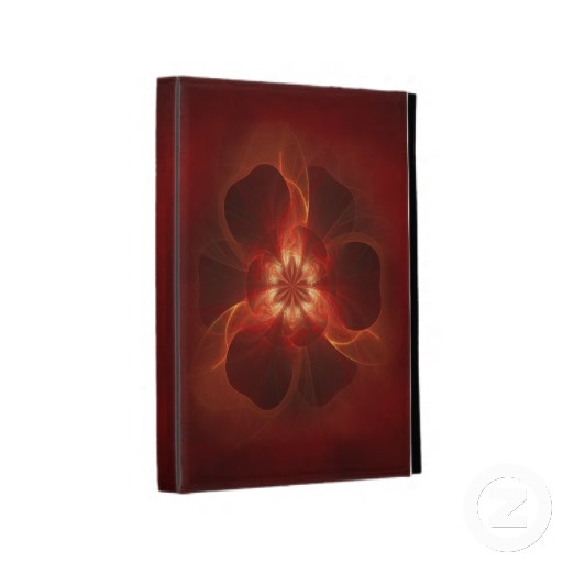 Fire Flower Fractal Art iPad Folio Case $62.20 #fire #flower #fractal #abstract #iPad #cases