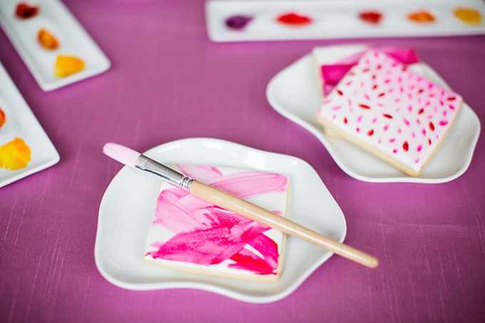 Cookie Painting Station for Weddings