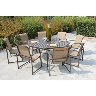Bellini Tiago 9 Piece Dining Set I Really Like The Octagon Table With Seating For 8 Patio Deck In 2018 Pinterest And 7