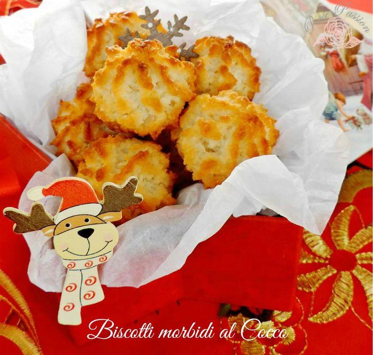 Biscotti morbidi al cocco.con albumi zucchero lattw
