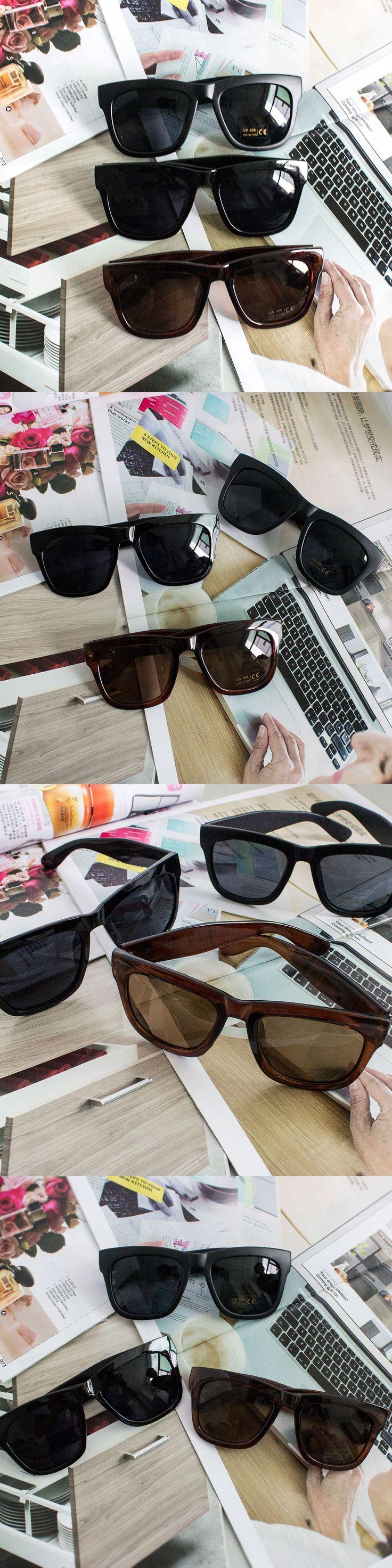 2016 Hot Fashion Black Fashion Cool  Vintage Mens Womens 80's Unisex Black Lens Sunglasses