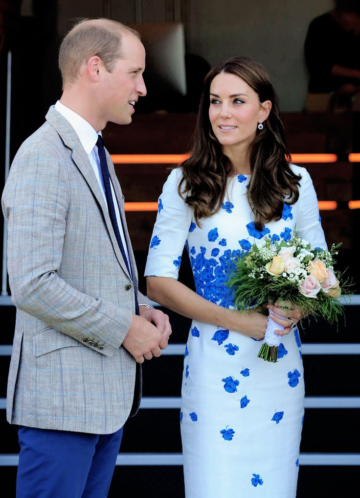 The Duke and Duchess of Cambridge leave Youthscape on August 24, 2016 in Luton, England.