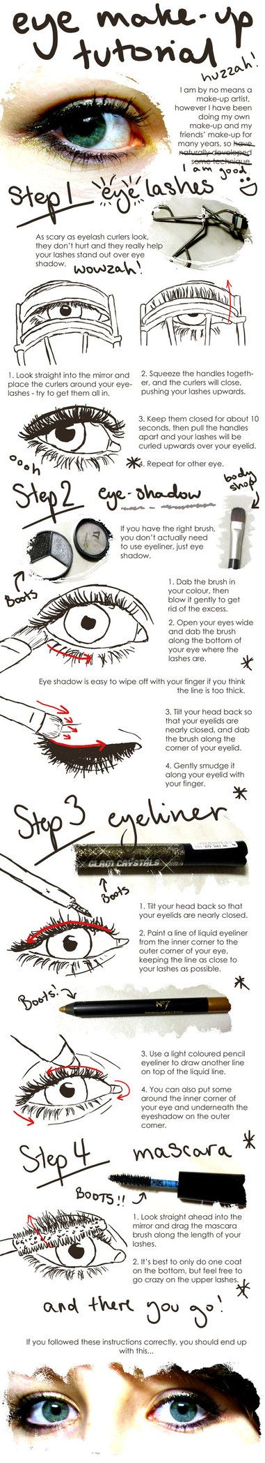 eye make up tutorial - need this (esp. because @Lauren Kutsko's eye makeup has been so beautiful lately ;)