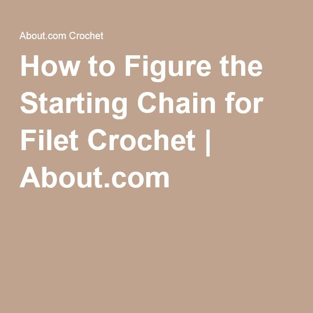 How to Figure the Starting Chain for Filet Crochet | About.com