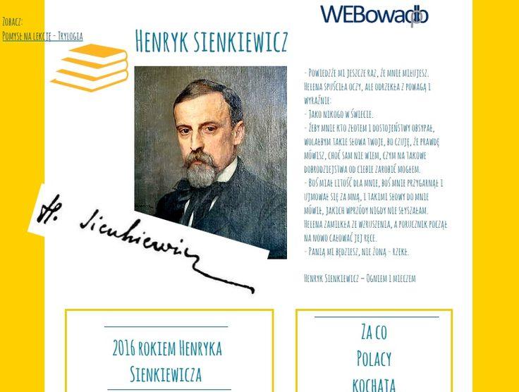 Materiały na temat Henryka Sienkiewicza