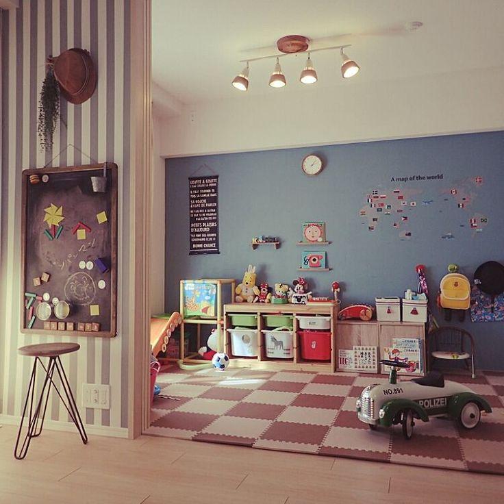 TROFAST/マステでストライプ/壁を塗りました/きっずルーム/雑貨…などのインテリア実例 - 2015-01-12 14:39:14   RoomClip(ルームクリップ)