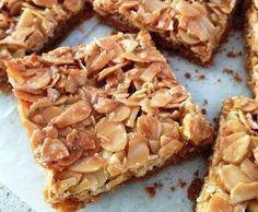 Recette Croquants aux amandes sur pâte sablée par Damy - recette de la catégorie Desserts & Confiseries