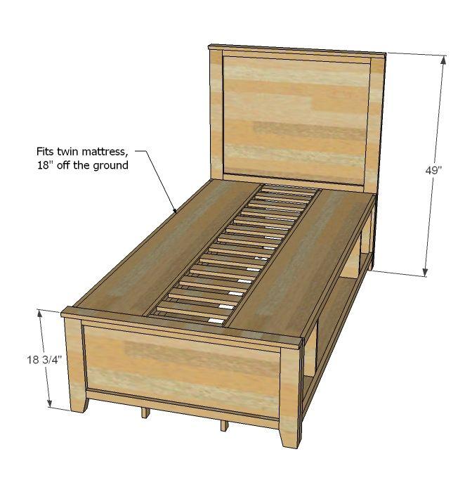 Hailey Storage Bed Twin Diy Storage Bed Diy Furniture Plans Twin Storage Bed