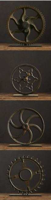 I think this is recycling with vintage imagination!             DIY art idea: vintage gears