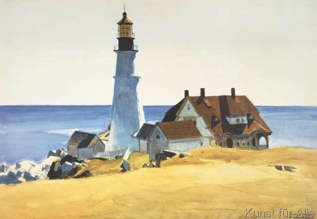 Edward Hopper - Lighthouse and Buildings, Portland Head, 1927