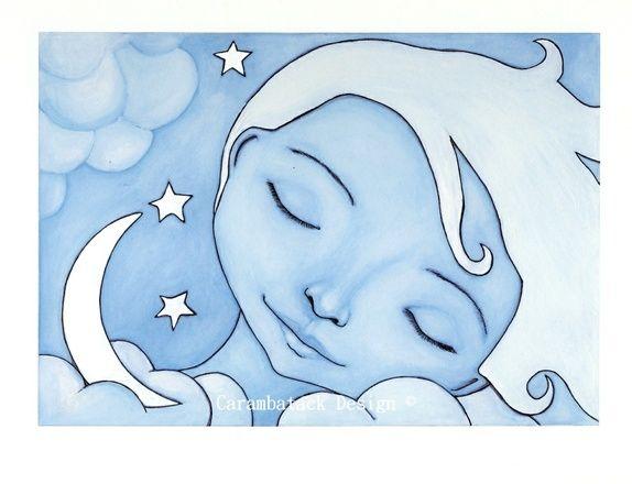 Sweet dreams - Signert trykk. Art by Annette Mangseth / Carambatack Design www.facebook.com/carambatackdesign