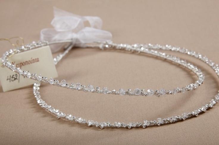 Clear Swarovski Crystal Stefana, $220.00 at Greek Wedding Shop ~ http://www.greekweddingshop.com/