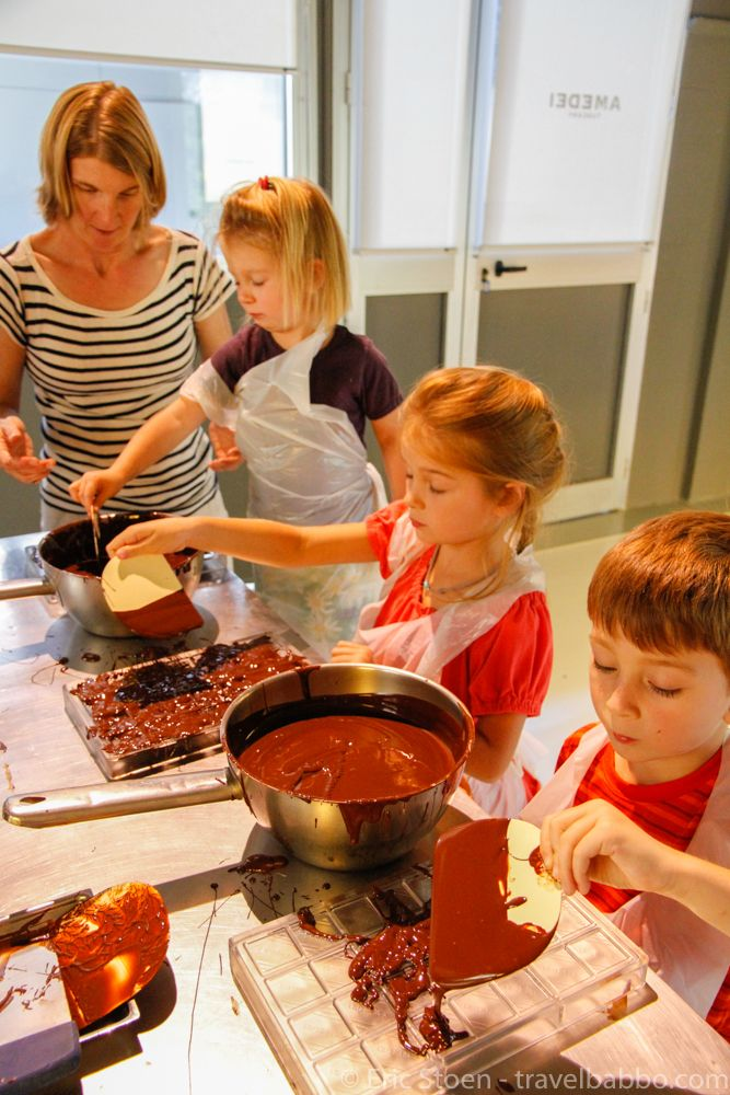 Making chocolate at Amedei near Pisa, one of our favorite day-trips from Florence.