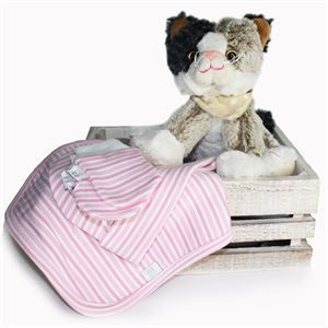 Baby's Gift in a Crate with sweet topsy kitten! http://www.flyingflowers.co.nz/babys-crate