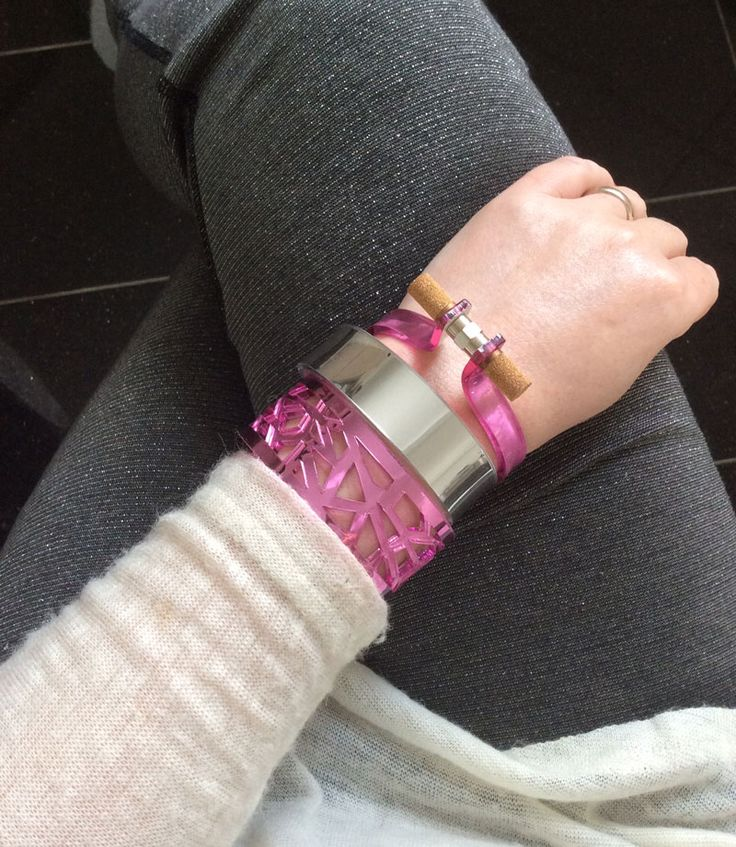 COOEE bracelets - colours mirror rosso and mirror silver
