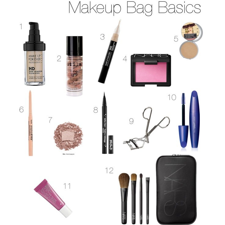 Makeup Bag Basics by Julie DiGiovine of The Stylish One via Polyvore | My latest for @Sweet Lemon Magazine