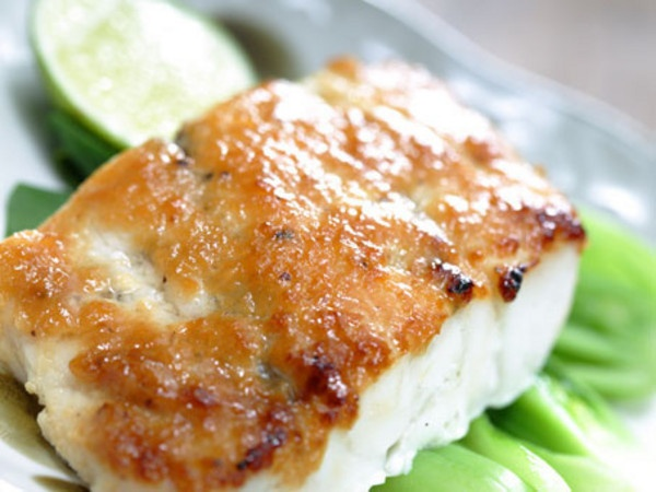 Miso baked seabass with baby pak choi recipe | n-a - HungryGoWhere