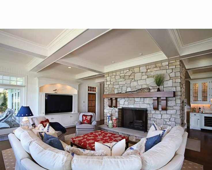 fireplaceCozy Living Room, Stones Fireplaces, Fireplaces Mantles, Contemporary Living Room, Fireplaces Mantels, Room Layout, Future House, Dreams House, Families Room