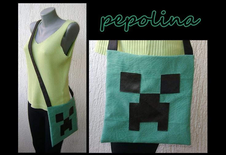 Creeper Minecraft Bag. Would make a fun sleepover bag for the kiddo!