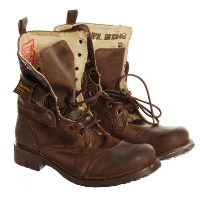 Superdry Brown New Panner Boots - These look like man boots... but i don't care! I like them.
