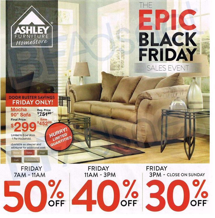 We have Posted Ashley Furniture's #BlackFriday2014 ad!
