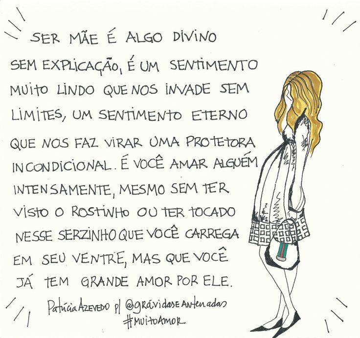 #muitoamor por www.gravidaseantenadas.com.br