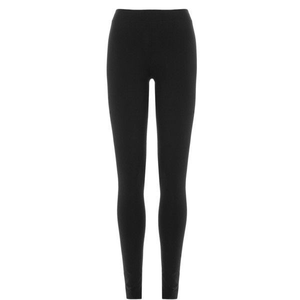 DKNY Leggings ($93) ❤ liked on Polyvore featuring pants, leggings, black, slim fit trousers, black elastic waist pants, slim fit pants, slimming leggings and dkny leggings