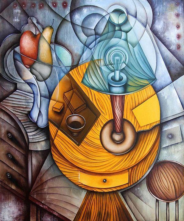 Yellow Table by Eugene Ivanovby Eugene Ivanov  #eugeneivanov #cubism #avantgarde #threedimensional #cubist #artwork #cubistartwork #abstract #geometric #association #@eugene_1_ivanov